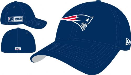 NEW ERA 39THIRTY BASEBALL CAP.NEW ENGLAND PATRIOTS NAVY ON FIELD STRETCH HAT 9S2